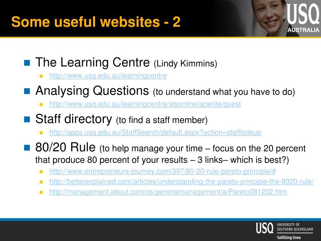 Some useful websites - 2