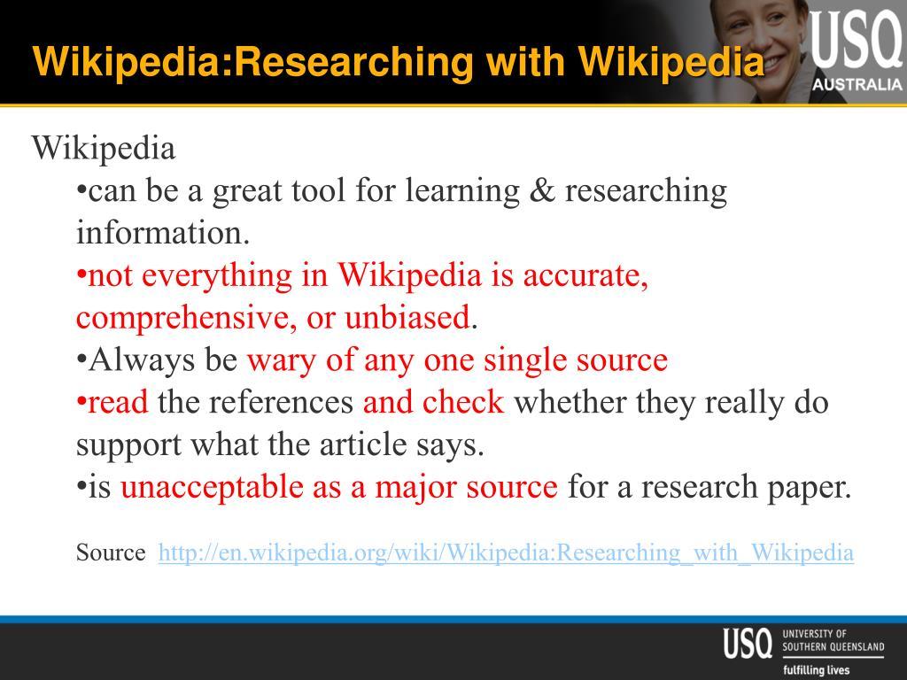 Wikipedia:Researching