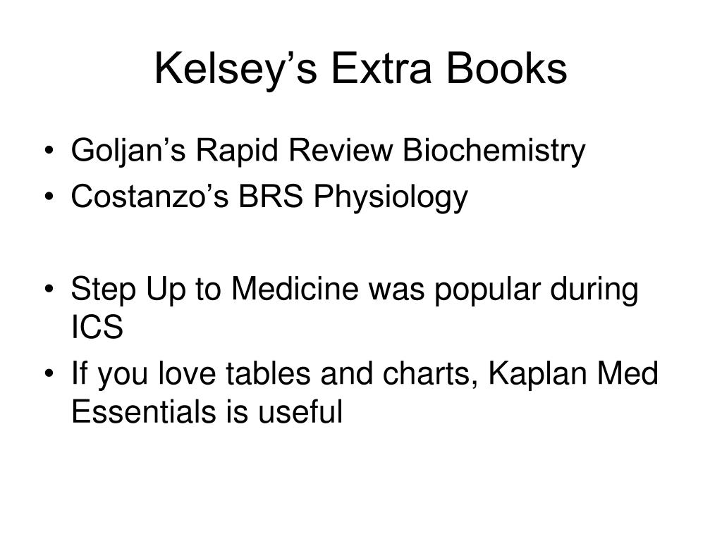 Kelsey's Extra Books