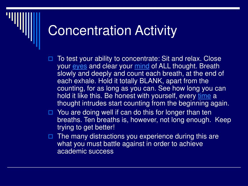 Concentration Activity