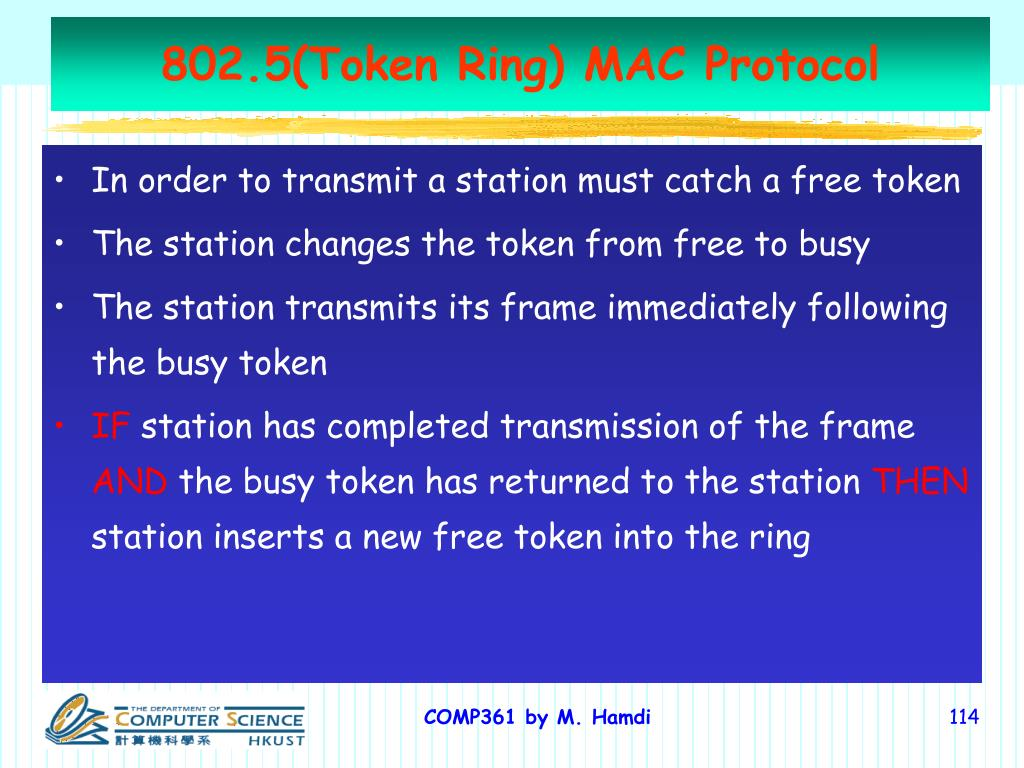 802.5(Token Ring) MAC Protocol