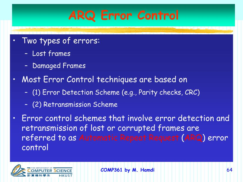 ARQ Error Control