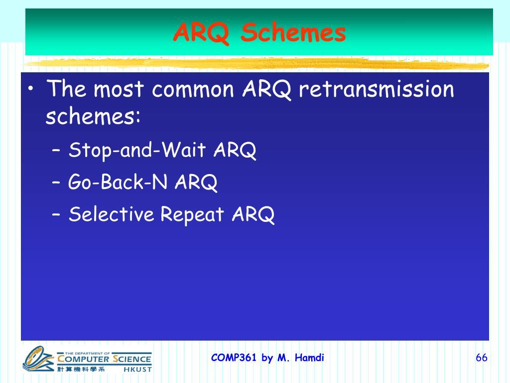ARQ Schemes