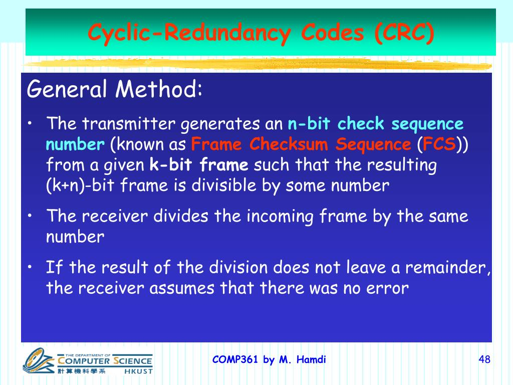 Cyclic-Redundancy Codes (CRC)