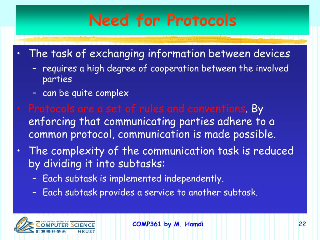 Need for Protocols