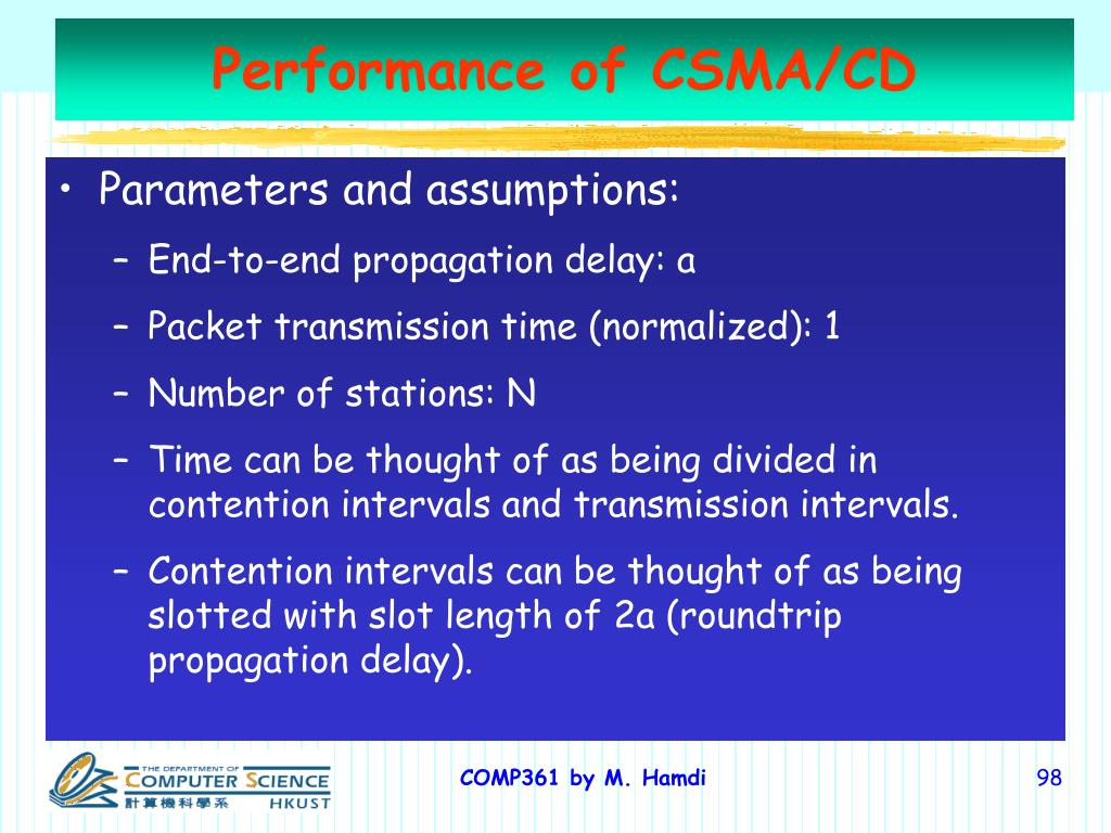 Performance of CSMA/CD