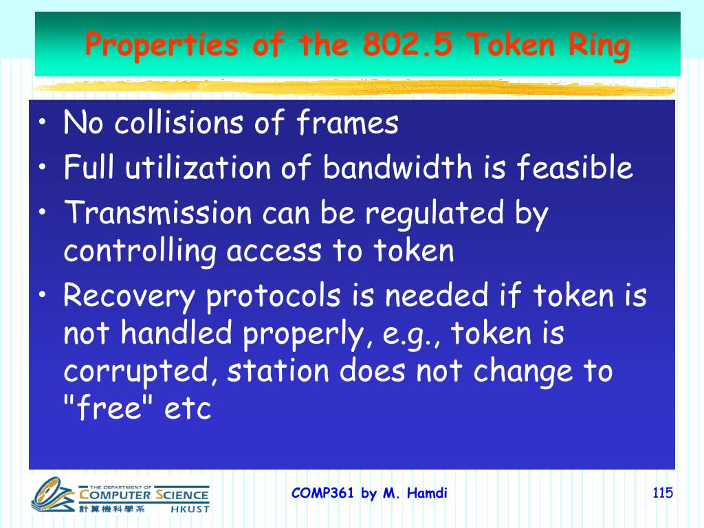 Properties of the 802.5 Token Ring