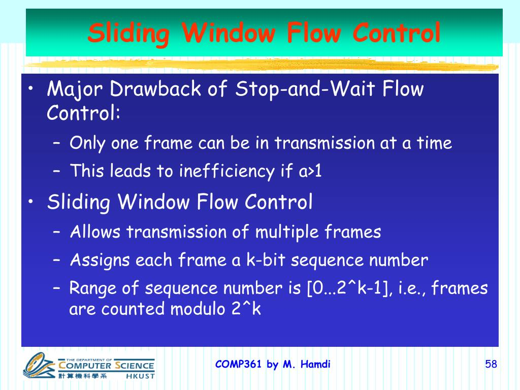 Sliding Window Flow Control