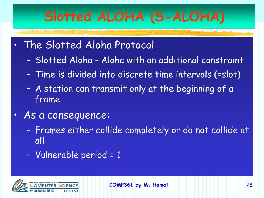 Slotted ALOHA (S-ALOHA)