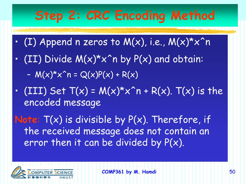 Step 2: CRC Encoding Method