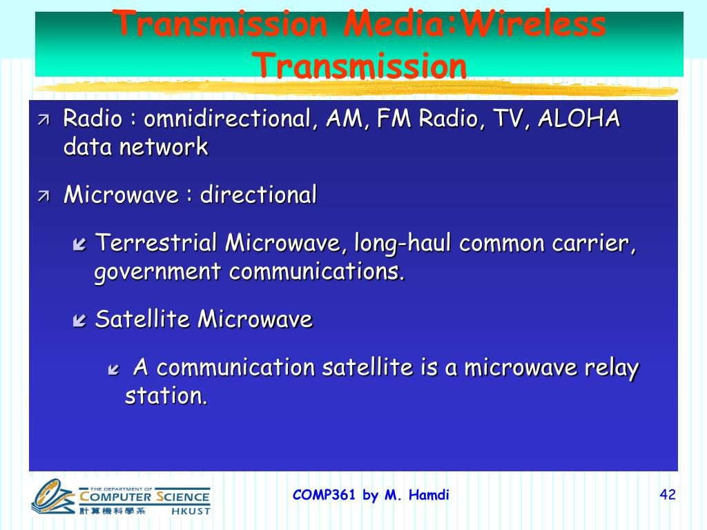 Transmission Media:Wireless Transmission