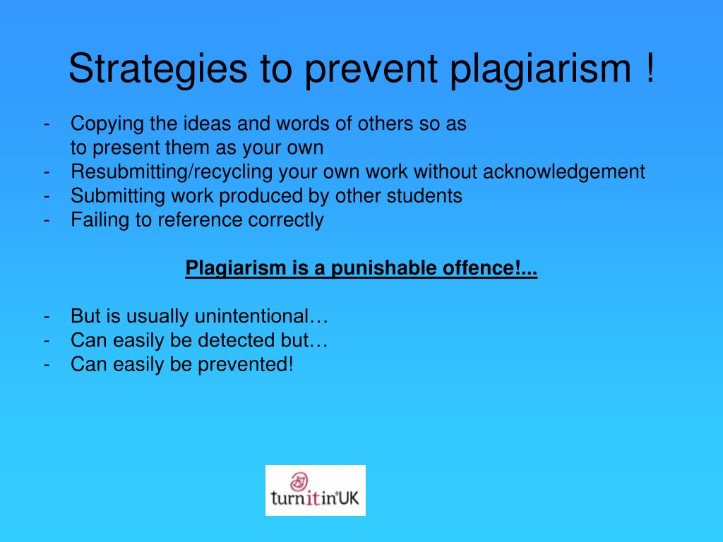 Strategies to prevent plagiarism !