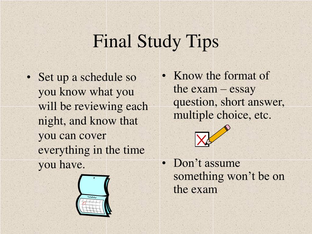 Set up a schedule so you know what you will be reviewing each night, and know that you can cover everything in the time you have.