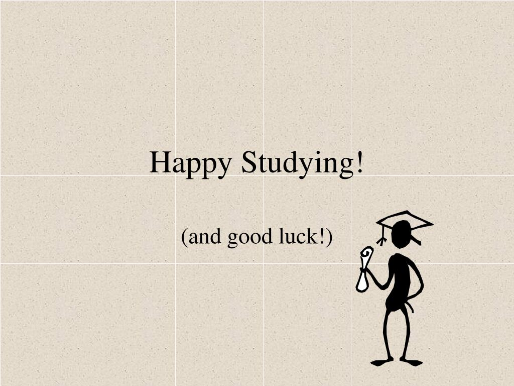 Happy Studying!
