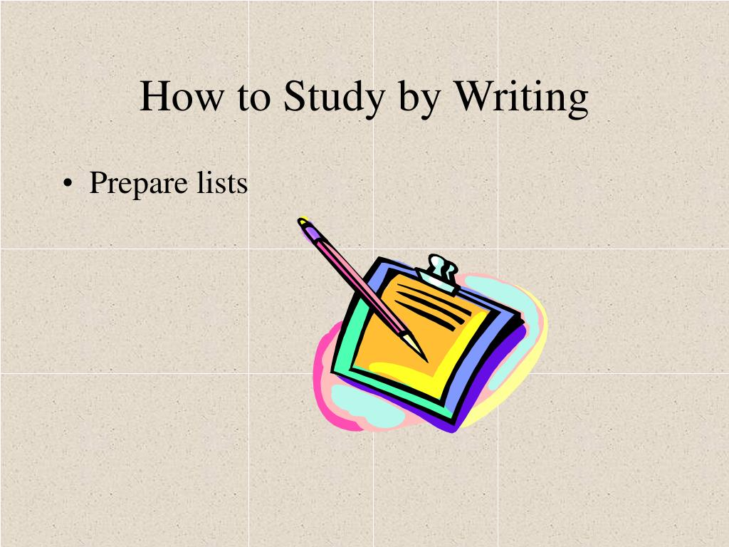 How to Study by Writing