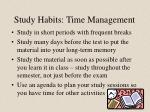 study habits time management