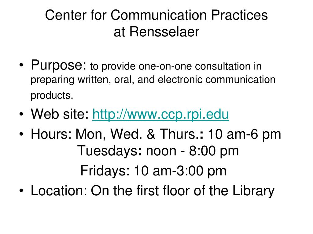 Center for Communication Practices