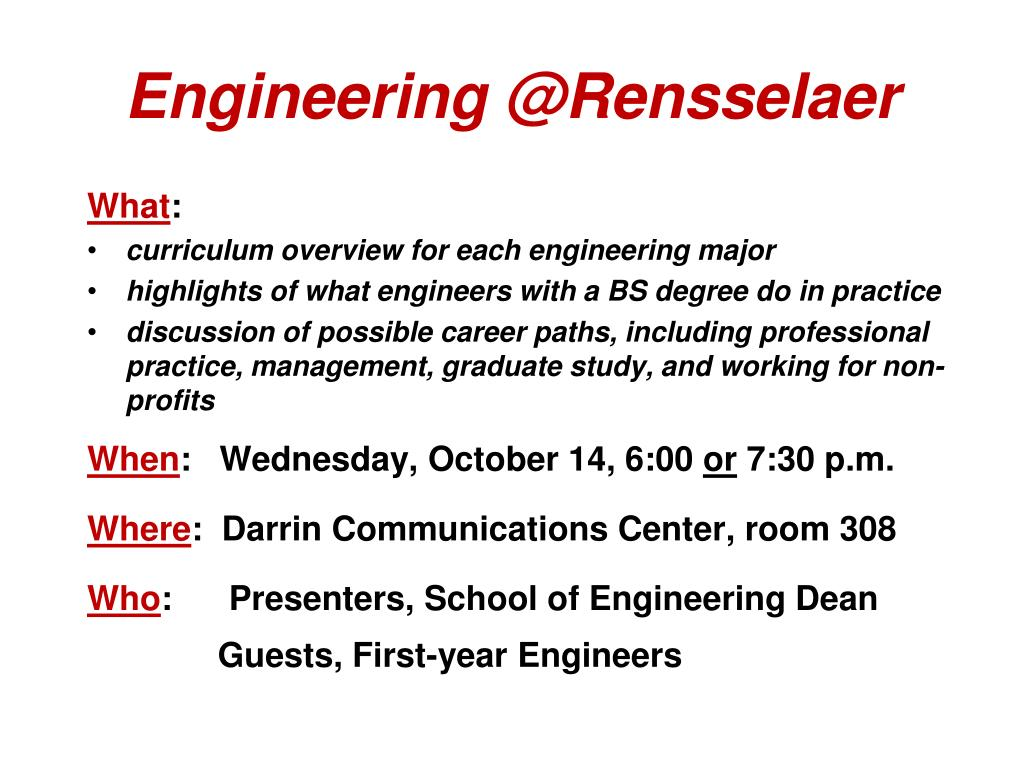 Engineering @Rensselaer