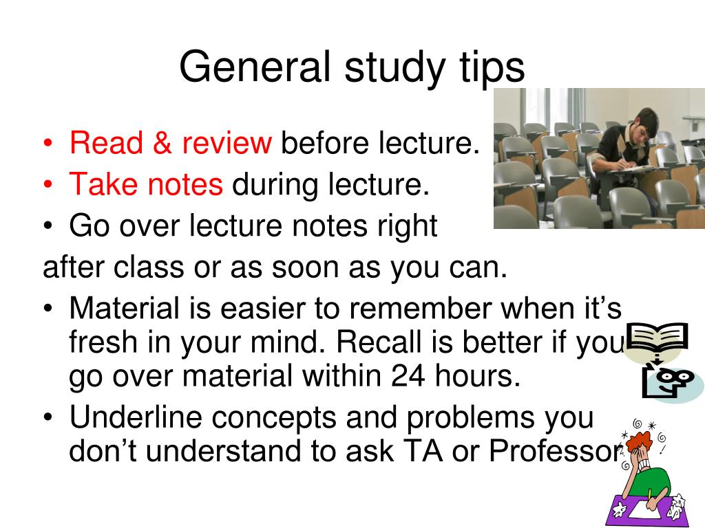 General study tips