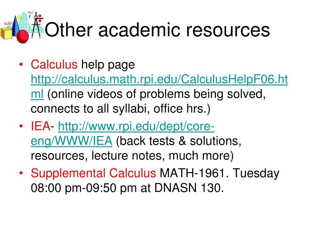 Other academic resources