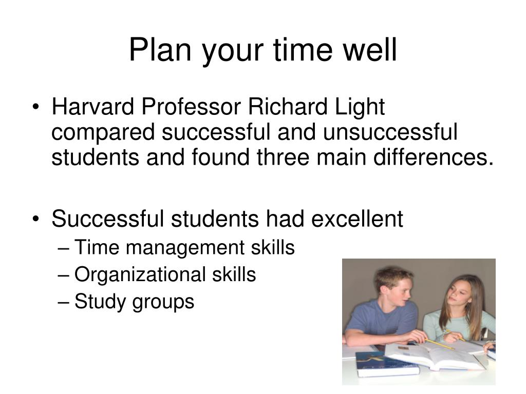 Plan your time well