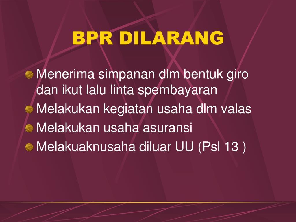 BPR DILARANG