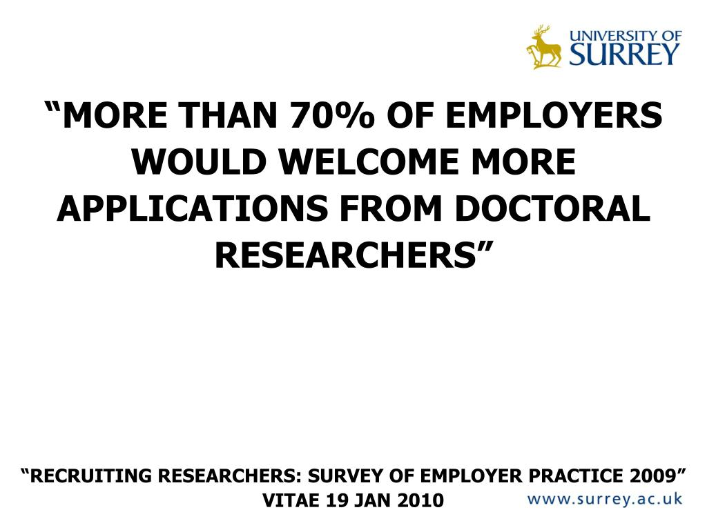 """MORE THAN 70% OF EMPLOYERS"