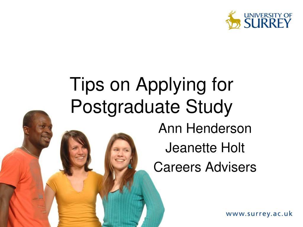 Tips on Applying for Postgraduate Study