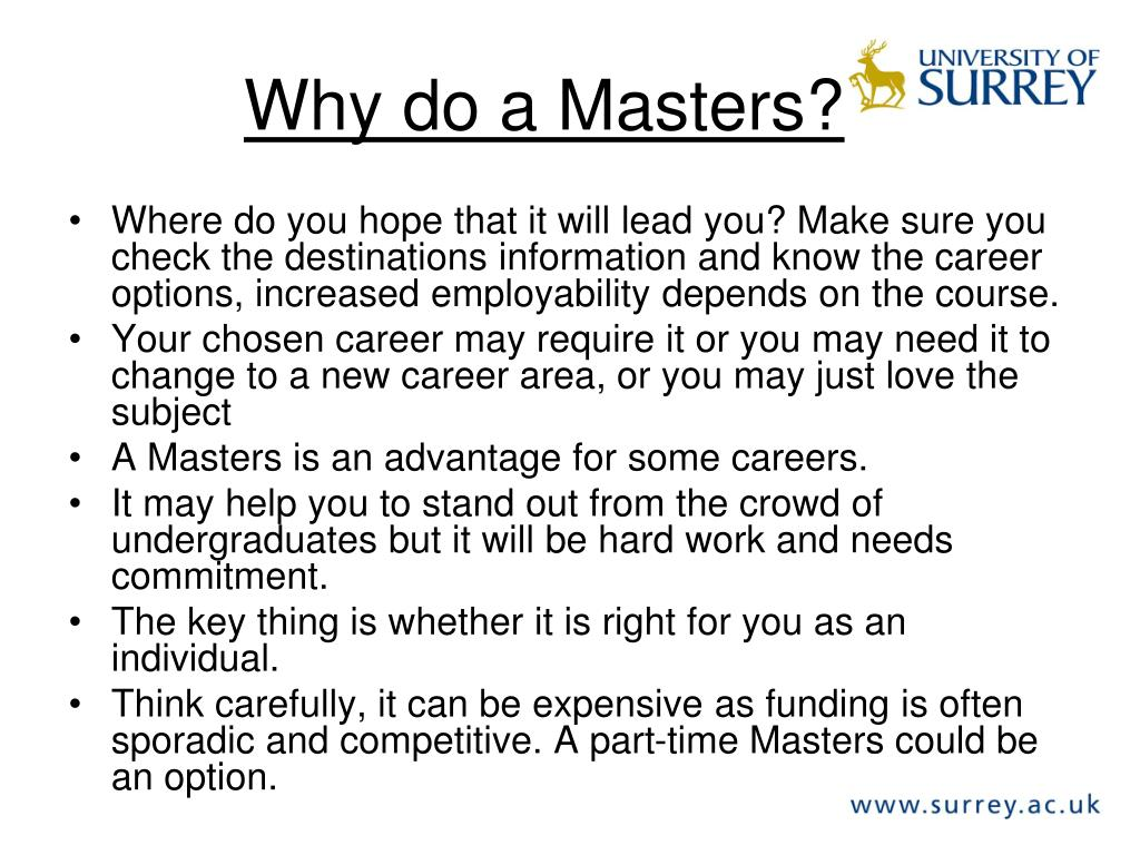 Why do a Masters?