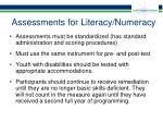 assessments for literacy numeracy36