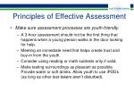 principles of effective assessment39