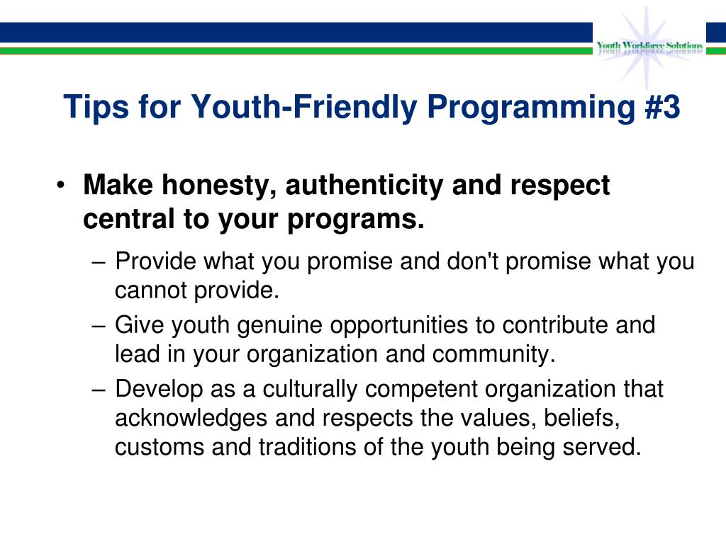 Tips for Youth-Friendly Programming #3