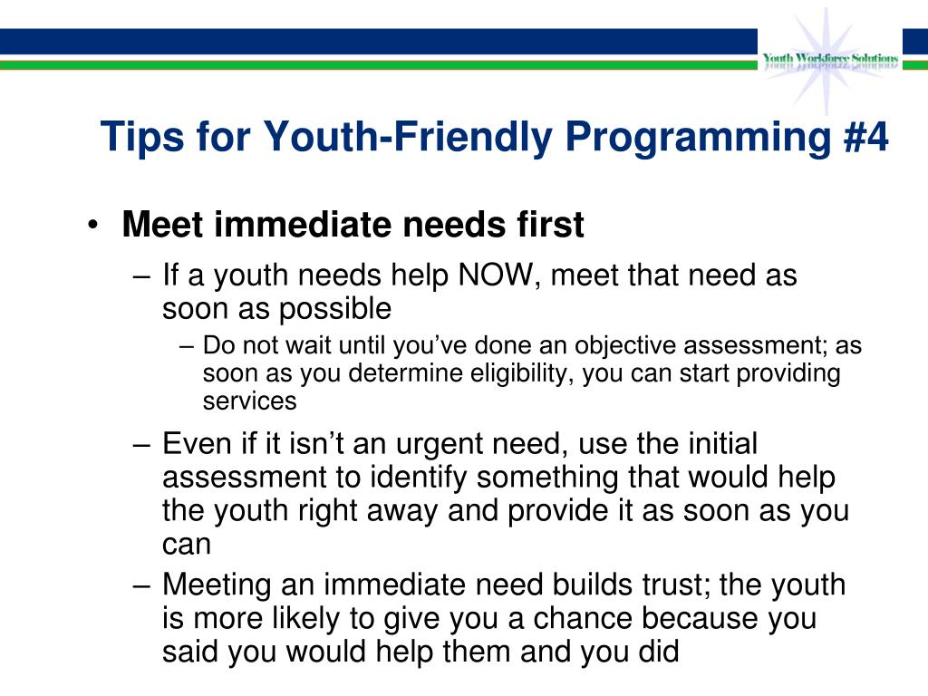 Tips for Youth-Friendly Programming #4