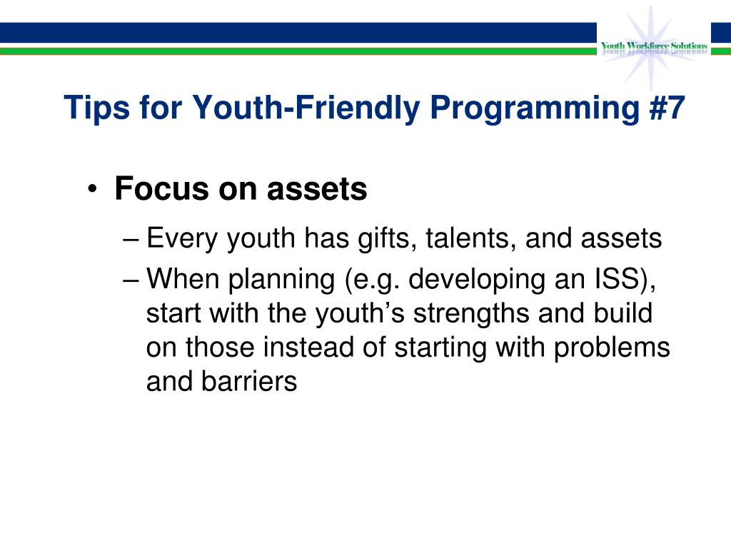 Tips for Youth-Friendly Programming #7
