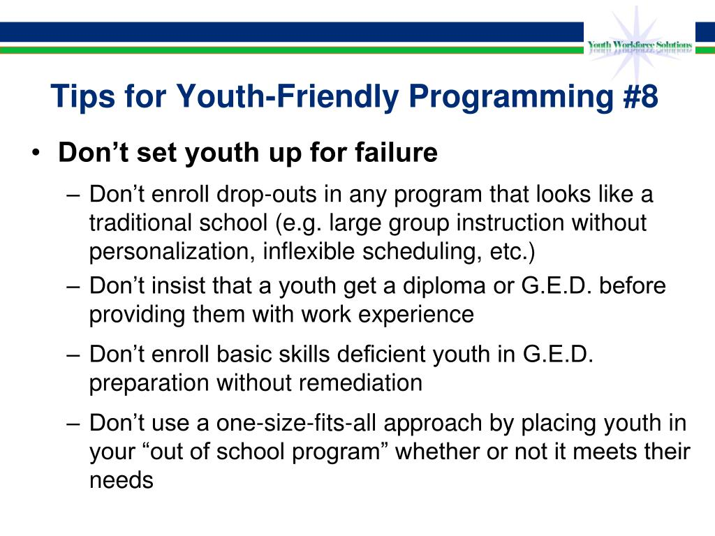 Tips for Youth-Friendly Programming #8