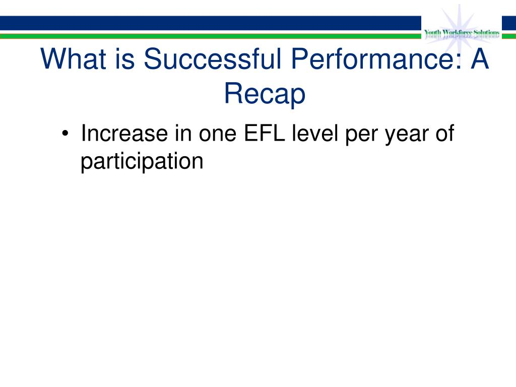 What is Successful Performance: A Recap
