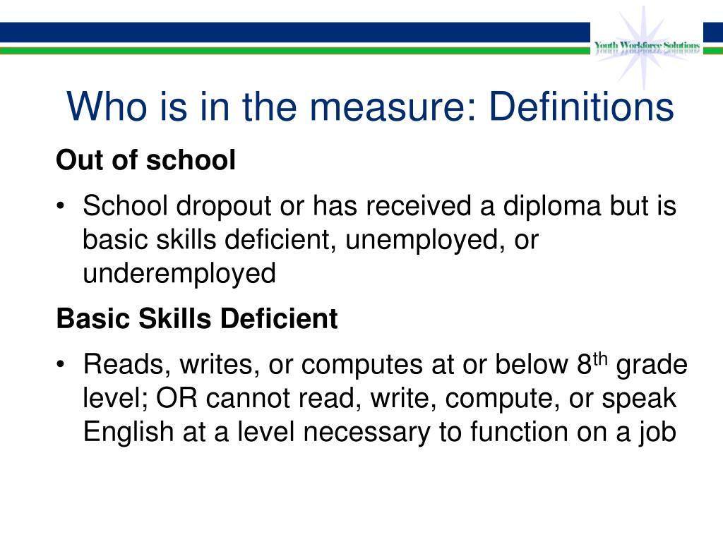 Who is in the measure: Definitions