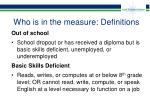 who is in the measure definitions