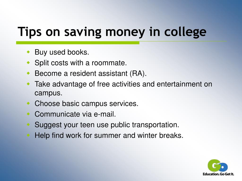 Tips on saving money in college
