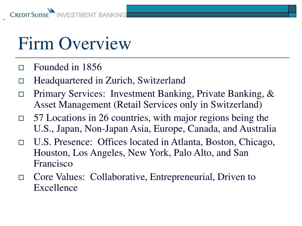 Firm Overview
