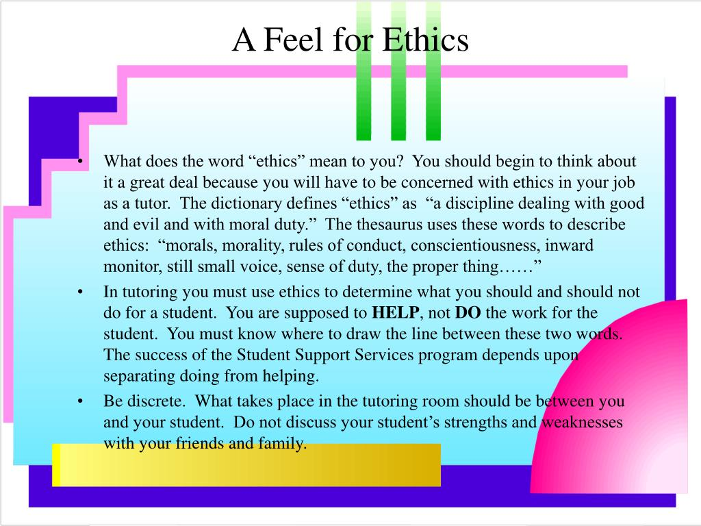 A Feel for Ethics