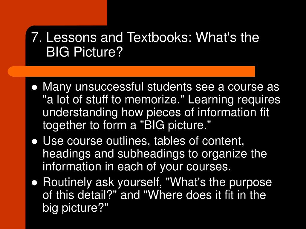 7. Lessons and Textbooks: What's the