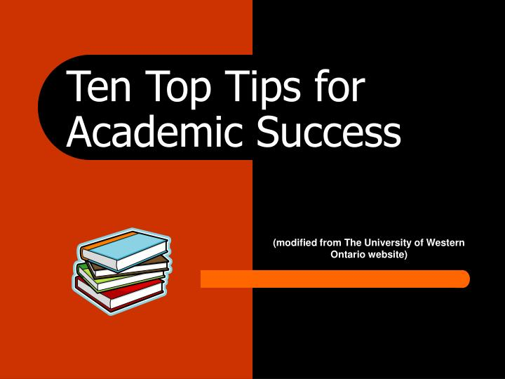 Ten top tips for academic success