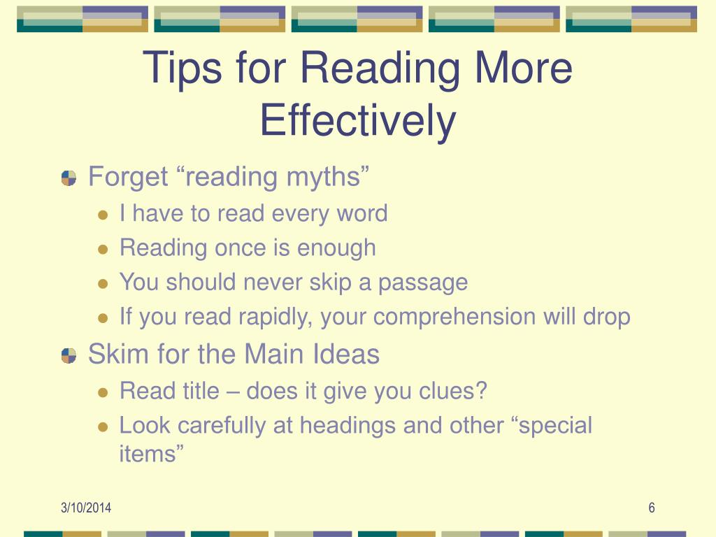 Tips for Reading More Effectively
