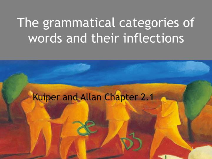 The grammatical categories of words and their inflections l.jpg