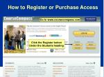 how to register or purchase access