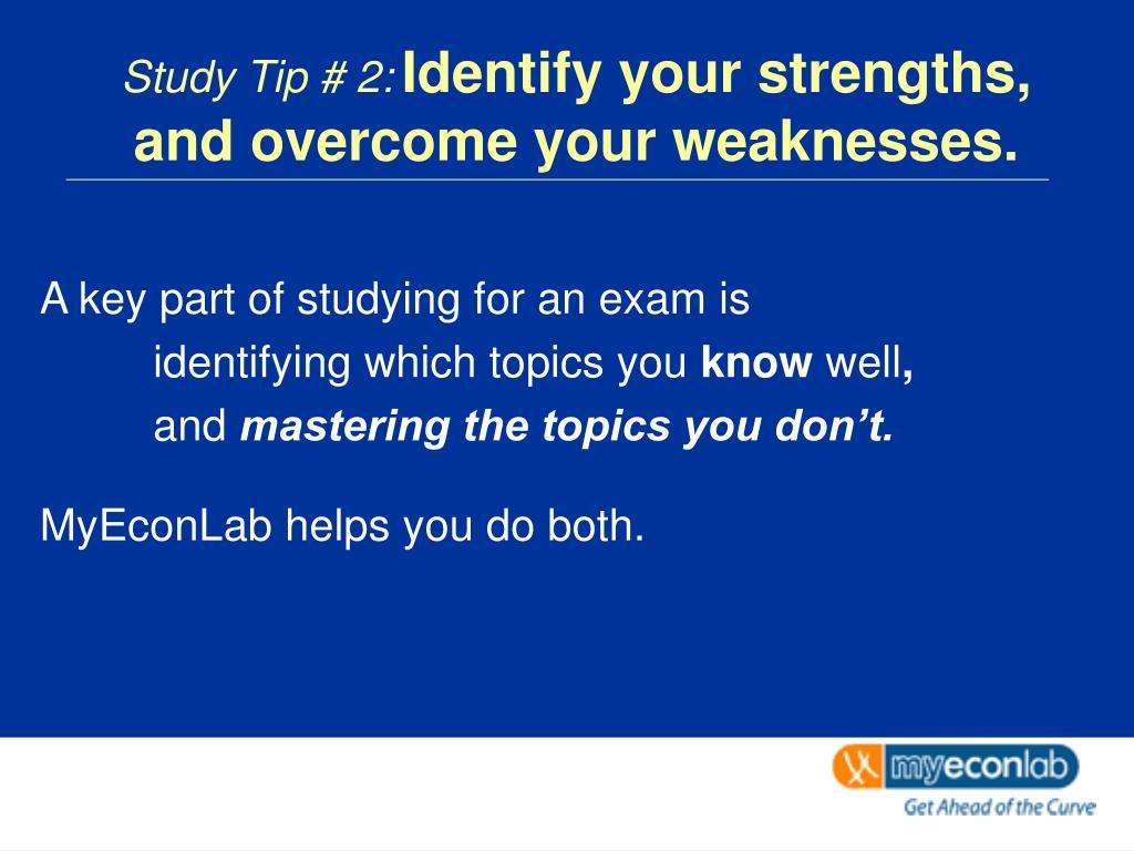 Study Tip # 2: