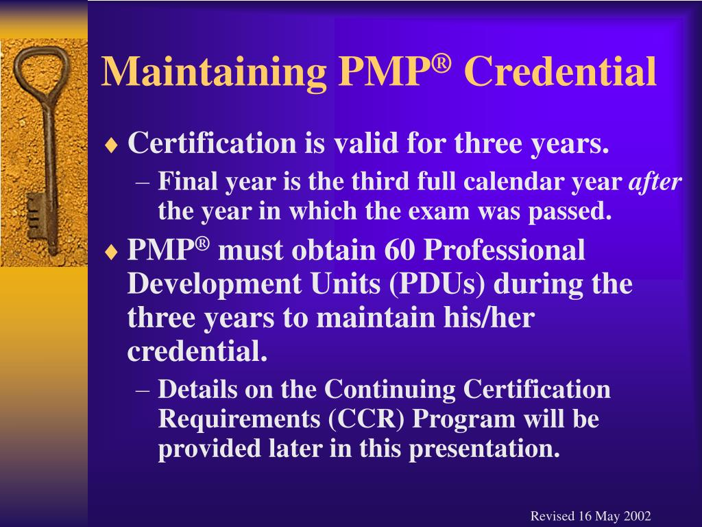 Maintaining PMP