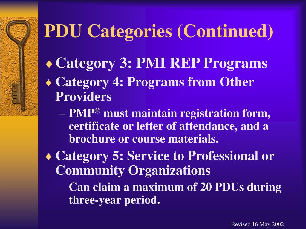 PDU Categories (Continued)