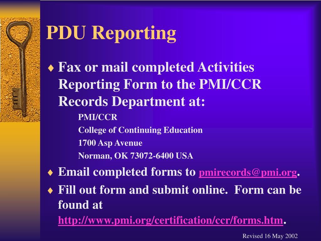 PDU Reporting